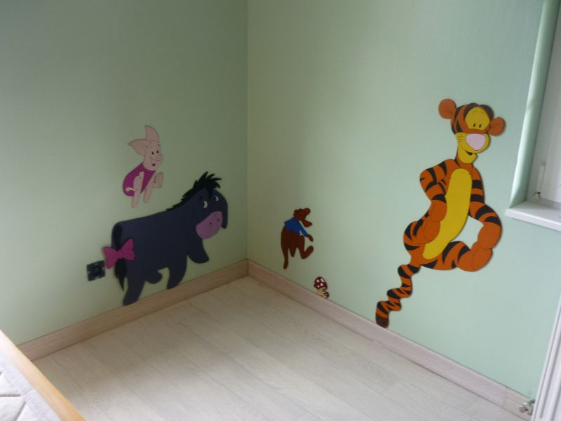 Chambre winnie l ourson deco chambre enfant for Decoration de chambre winnie l ourson